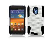 White Black APEX Hybrid Hard Case Gel Cover For Samsung Galaxy S2 Epic 4G Touch D710