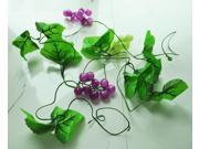 New 7.9Ft Home Decorative Green Artificial Grape Vine