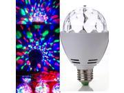 Fashion! RGB Crystal Ball E27 LED Rotating Stage Lighting Disco DJ Club Party 9SIA67038T0729