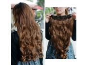 "New Light Brown Women's Fashion Clip-on Hair Extensions 21.7"""" Long Curly Wavy"" 9SIA67038T3517"
