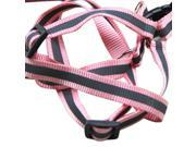 1.2M Reflective Strap Puppy Dog Collar Halter Harness Leash Hot Pink