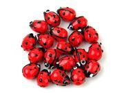 20 Red Lampwork Glass Ladybug Ladybird Loose Beads 12mm HOT 9SIV15G65S1085