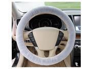 Furry Fluffy Fur Plain Steering Wheel Car Cover Car Washable - Gray