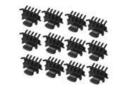 THZY 12 Pcs 1.1 Long Black Plastic Mini Hairpin 10 Claws Hair Clip