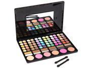 THZY Fashion 78 Colors Pro Eyeshadow Palette Makeup Powder Cosmetic Brush Kit Box With Mirror Women Make Up Tools Eye Shadow, Black 9SIV1656CP1932