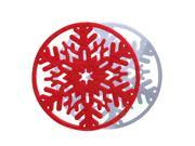 SODIAL 10Pcs Christmas Snowflake Cup Insulation Mat Heat Pad Home Table Xmas Decoration Red+White 9SIA6705XA6509