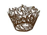 SODIAL 100 pcs Original Design of Butterflies Cupcake Wrappers 15 Popular Colours UK seller(coffee)