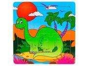 SODIAL 16 Pieces Puzzle Wooden Toys Education And Learning Kids Christmas Gift Dinosaur 9SIA6706BM4738