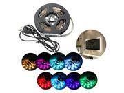 SODIAL USB 5050 RGB LED Strip Light for Notebook + Waterproof Strip Controller 200Cm