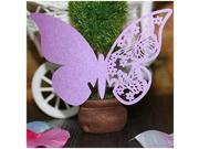 SODIAL 20pcs Hollow Out A Butterfly Cup Card Seat Card Wedding Decoration Purple 9SIA6706XC1258