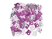 SODIAL Pink + purple + silver Foil 18th Birthday Confetti 2 Pack 9SIA6706Y92172