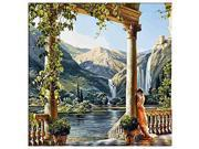 SODIAL DIY Oil Painting Paint By Number Kit Image Drawing On Canvas By Hand Coloring Arts Crafts & Sewing NEW Garden Goddess