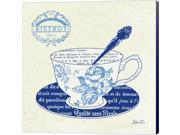 Blue Cups I by Stefania Ferri Canvas Art, Size 16 X 16 9SIA6732578442