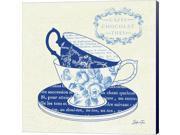 Blue Cups II by Stefania Ferri Canvas Art, Size 16 X 16 9SIA6732578513