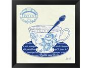 Blue Cups I by Stefania Ferri Framed Art, Size 18 X 18 9SIA6732578547