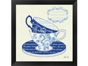 Blue Cups II by Stefania Ferri Framed Art, Size 18 X 18 9SIA6732577039