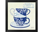 Blue Cups III by Stefania Ferri Framed Art, Size 18 X 18 9SIA6732578812