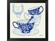Blue Cups IV by Stefania Ferri Framed Art, Size 18 X 18 9SIA6732577112