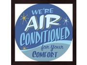 Air Conditioned by RetroPlanet Framed Art, Size 13.25 X 13.25 9SIA6734MG3217
