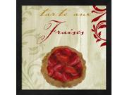 Tartes Francais, Strawberry by Color Bakery Framed Art, Size 13.25 X 13.25