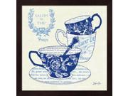 Blue Cups IV by Stefania Ferri Framed Art, Size 13.25 X 13.25 9SIA6734MF0765