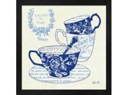 Blue Cups IV by Stefania Ferri Framed Art, Size 13.25 X 13.25 9SIA6734MG4956