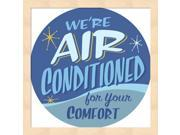 Air Conditioned by RetroPlanet Framed Art, Size 13.25 X 13.25 9SIA6734MG1685