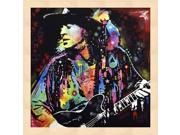 Stevie Ray Vaughan by Dean Russo Framed Art, Size 13.25 X 13.25 9SIA6734ME4332