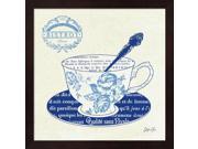 Blue Cups I by Stefania Ferri Framed Art, Size 13.25 X 13.25 9SIA6734ME9736