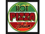 Hot Pizza Round by RetroPlanet Framed Art, Size 13.25 X 13.25 9SIA6734MG3314