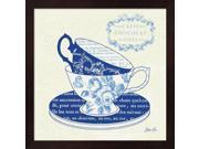 Blue Cups II by Stefania Ferri Framed Art, Size 13.25 X 13.25 9SIA6734MF0245