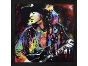 Stevie Ray Vaughan by Dean Russo Framed Art, Size 13.25 X 13.25 9SIA6734MG4139