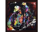 Stevie Ray Vaughan by Dean Russo Framed Art, Size 13.25 X 13.25 9SIA6734MG0450