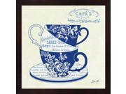 Blue Cups III by Stefania Ferri Framed Art, Size 13.25 X 13.25 9SIA6734MF0511