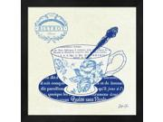 Blue Cups I by Stefania Ferri Framed Art, Size 13.25 X 13.25 9SIA6734MG6366