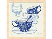 Blue Cups IV by Stefania Ferri Framed Art, Size 13.25 X 13.25 9SIA6734MG0610