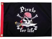 Taylor 1800 PIRATE FOR LIFE 12X18 FLAG