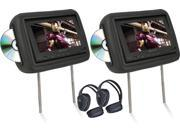 "Pair Soundstream Vhd-9Grdk Of 8.8"" Headrest Monitors Dvd Players Sd/Usb"
