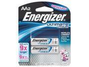 Energizer - AA-2 Lithium Batteries EL91BP2
