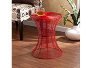 Mykonos Indoor/Outdoor Accent Table - Red