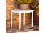 Laguna Hardwood End Table - White