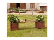 Taos Hardwood Planter Holder Bench - Oiled