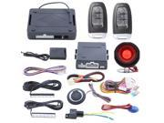 hopping code PKE car alarm system with push button remote engine start/ stop- passive keyless entry- lock/unlock and optional PKE optional