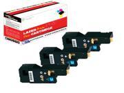 OWS® Compatible 3PK Laser Toner Unit for Xerox 6015 ( 106R01627 ) Cyan Compatible Toner For 6015 6000 6010