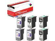 OWS® 2 Pack Compatible Ink Cartridge Unit for 3x CL-51 Color & 3x PG-50 Black Compatible Inkjet For PIXMA MP150 160 170