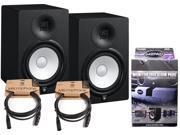 Pair of Yamaha HS8 Studio Monitors w/ (2) 10' XLR Cables and MoPad Monitor Pads