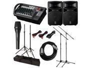 Yamaha STAGEPAS 600i 600-I PA System with Microphone Cables and Stands