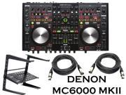 Denon DJ DNMC6000MK2 Professional Digital Mixer and Controller + Free Laptop Stand and XLR Cbales.