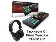 Native Instruments Traktor Kontrol X1 MkII DJ Controller - Free Tascam DJ Headphone TH-02.