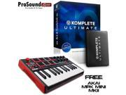 Native Instrument Komplete 10 Ultimate - FREE Akai Professional MPK MINI MKII 25-Key